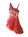 Robe de Patinage Femme Sans manche Patinage Jupes & Robes / Robes Robe de patinage artistique Elasthanne Rouge Tenue de PatinageVetements