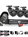 sannce® 8-kanals 960h dvr 4st 1000tvl ir väder utomhus CCTV kameraövervakning hemsäkerhet kit CCTV-system