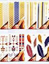 Airbrush-tatueringsstenciler- tillVuxen / Tonåring-Guld-PVC-1- styck18*10*0.2