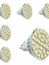 GU5.3(MR16) Spot LED MR16 29 SMD 5050 440lm lm Blanc Chaud Decorative AC 100-240 V 6 pieces