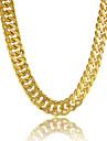 Bărbați Lănțișoare Circle Shape Line Shape Placat cu platină Placat Auriu Umplute cu Aur Aliaj Personalizat Auriu Bijuterii PentruZilnic