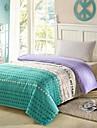 j\'aime ma maison 100% twill depouille motif de coton feuille 3 pcs fixee pour double / lit queen size