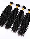 6a prom och hårprodukter 200g 4st / lot peruanska virgin hår vinkar djupt djupt lockigt peruanska människohår