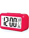 stor LCD elektronisk klocka lata ljus induktions snooze väckarklocka smarta väckarklockan (diverse färg)