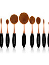 10 ensembles de brosses Poil Synthetique Professionnel / Couvrant Plastic Visage / OEil / Levre MAKE-UP FOR YOU