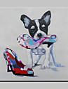 handgjorda modern nnaughty hund djur hund oljemålning på duk för vardagsrummet heminredning väggmålningar dugg ram