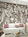 retro effet cuir 3d brillant grand fond d\'ecran mural relief romain mur d\'art decor pour television canape mur de fond