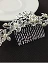 piepteni de argint cristal perla de păr pentru petrecerea de nunta doamnă bijuterii