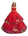 Princesse Robes Pour Poupee Barbie Rouge Robes Pour Fille de Doll Toy