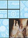Blomserier Svart Papper tatuering tillförsel komplett pappers tatuering stencil