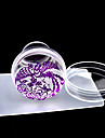 4cm Clear Jelly Silicone Nail Art Stamper Scraper with Cap Polish Print Stencil Manicure Stamp Stamping Tools