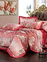 Fleur Ensembles housse de couette 4 Pieces Coton Luxe Imprime Coton Lit 2 Places \'Queen\' Lit 2 Places \'King\'1 x Housse de couette 2 x