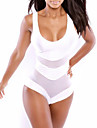 Women\'s Straped One-pieces , Mesh Wireless/Padless Bra Others White