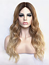 Ombre Wig Curly Fashion Wig Long Blonde With Dark Root TOP Quality Hair Wigs