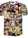 Inspirerad av Dragon Ball Son Goku Animé Cosplay-kostymer Cosplay T-shirt Prickigt Tryck Orange Kort ärm T-shirt För Man