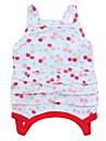 Chat / Chien Robe Rouge / Vert / Blanc Vetements pour Chien Ete / Printemps/Automne Floral / Botanique Mode
