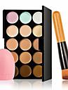 15 Correcteur/ContourPinceaux de Maquillage Humide VisageCouverture Blanchiment Correcteur Tonalite Inegale de la Peau Naturel Autre