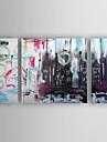 Peint a la main AbstraitModern Trois Panneaux Toile Peinture a l\'huile Hang-peint For Decoration d\'interieur