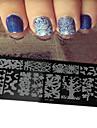 1st nya nail art stämpling plattor diy bild mallar verktyg spik skönhet xy-j01-05