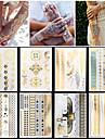 Series bijoux Or Papier approvisionnement de tatouage article complet Pochoir Tatouage