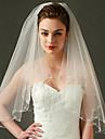 Wedding Veil Two-tier Elbow Veils Beaded Edge / Scalloped Edge