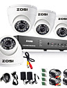 ZOSI® 8CH 960H DVR 4PCS 1000TVL IR Outdoor Dome Camera Home Security System Surveillance Kits