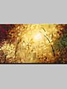 Peint a la main Abstrait / Paysage / A fleurs/Botanique / Paysages AbstraitsModern Un Panneau Toile Peinture a l\'huile Hang-peint For