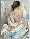 Pictat manual Oameni / Culoarea pieliiModern Un Panou Canava Hang-pictate pictură în ulei For Pagina de decorare