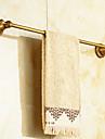 Barre porte-serviette Laiton Antique Fixation Murale 24.2*2.5*2.9 pouces Laiton Antique