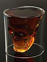 värmebeständigt dubbla väggar transparent kreativa skrämmande skull nyhet drinkware whisky vin vodka sköt glas kopp