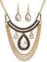 Set bijuterii Hârtie Reciclabilă Aliaj La modă Declaratie de bijuterii Picătură Auriu Argintiu Colier / cercei Petrecere Zilnic Casual