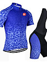 KEIYUEM® Cycling Jersey with Bib Shorts Unisex Short Sleeve BikeBreathable / Quick Dry / Dust Proof / Wearable / Sweat-wicking /