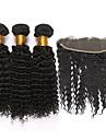 Trame cheveux avec fermeture Cheveux Mongoliens Tres Frise 6 Mois 4 Pieces tissages de cheveux