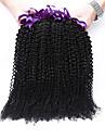 3 buntar brasilianska jungfru hår kinky lockigt brasilianskt människohår väva 7a brasiliansk rosa drottning hårprodukter