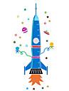 Tecknat Stilleben Mode Landskap Fritid Väggklistermärken Väggstickers Flygplan Dekrativa Väggstickers Höjdmätarstickers MaterialKan tas