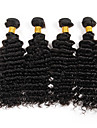Tissages de cheveux humains Cheveux Bresiliens Ondulation profonde 6 Mois 3 Pieces tissages de cheveux