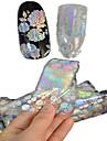 1pcs 100 * 4cm laser transparent nail art glitter stickers diy belle fleur d\'image geometrique beaute des ongles lt05-08