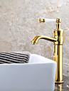 Contemporain Set de centre Valve en ceramique Mitigeur un trou with Ti-PVD Robinet lavabo