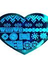 bluezoo kärlek blå nail art stämpling (15)