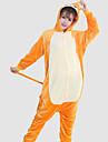 Kigurumi Pyjamas Apa Leotard/Onesie Halloween Animal Sovplagg Gul Lappverk Korallfleece Kigurumi Unisex Halloween / Jul / Karnival / Nyår