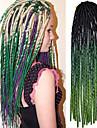 20 pouces crochet dreadlock doux havana mambo torsion tresser les cheveux couleur ombre vert noir avec crochet