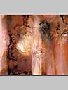 HANDMÅLAD Abstrakt / fantasi olje~~POS=TRUNC,Moderna En panel Kanvas Hang målad oljemålning For Hem-dekoration