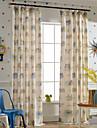 Deux Panneaux Rustique / Moderne / Neoclassique / Mediterraneen / Europeen Nouveaute / Bande dessineeBeige / Bleu / Gris / Rouge /
