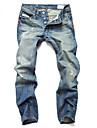 Bărbați Drept Larg Simplu Talie Medie Blugi Pantaloni Mată