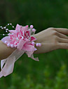 """Flori de Nuntă Legat Manual Trandafiri Corsaj de mână Nuntă Petrecere / Seară Satin Tul 3.94""""(Approx.10cm)"""