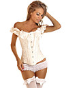 Floral Pattern Overbust Corset