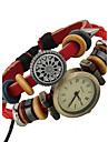 Damers Modeklocka Armbandsklocka Digital Läder Band Bohemisk Röd Stämpla