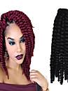 12-24 tum virka fläta havana mambo afro twist hårförlängning 2 # med virknål