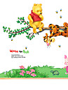 Djur Botanisk Tecknat Stilleben Mode Blommig Fritid Väggklistermärken Väggstickers FlygplanDekrativa Väggstickers Klistermärken för