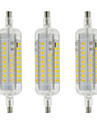 5W R7S Ampoules Mais LED T 60 SMD 2835 800 lm Blanc Chaud Blanc Froid Decorative Etanches AC 100-240 V 3 pieces